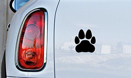 Cat Paw Foot print Car Vinyl Sticker Decal Bumper Sticker for Auto Cars Trucks Windshield Custom Walls Windows Ipad Macbook Laptop and More (BLACK)