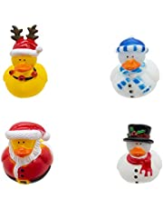 "Windy City Novelties 50 Pack - 2"" Assorted Winter Themed Rubber Ducky Bath Toys (Christmas)"