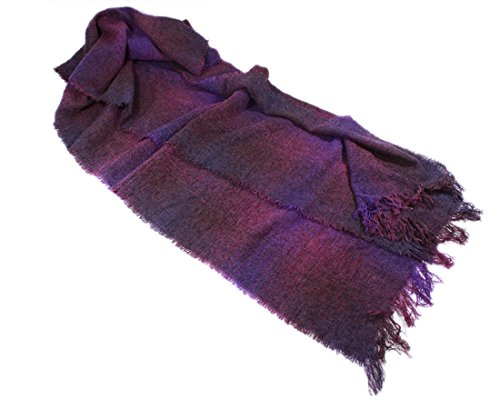 Long Scarf Purple Brushed 84
