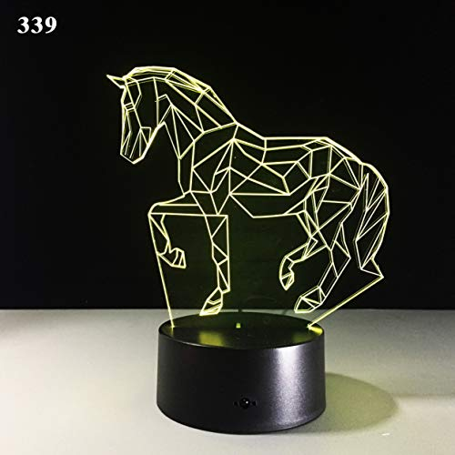 Swing Arm Desk Lamp Zebra Remote Control Colorful 3D Light Creative Touch Desktop Table Lamp Energy Saving Led Light Acrylic Colorful Remote Control Touch