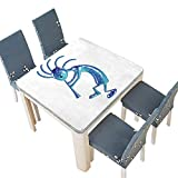 PINAFORE Polyester Tablecloth Table Cover Kokopelli Flute Trickster Vintage Aboriginal Tribe Art Ornament