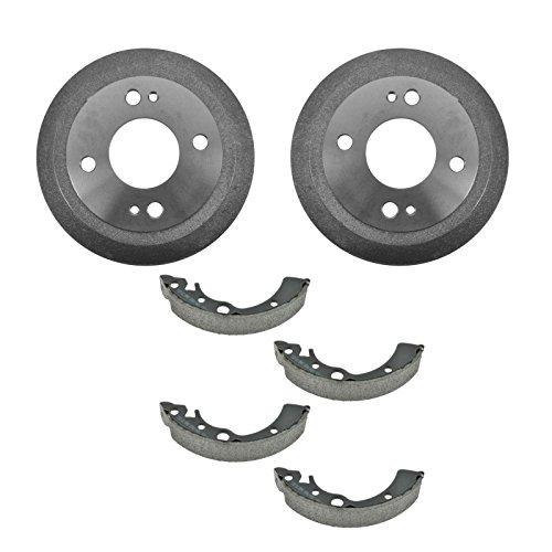 Honda Crx Drum Brake - Rear Brake Shoes Set & 2 Drums Kit Left & Right for Honda Civic CRX Del Sol