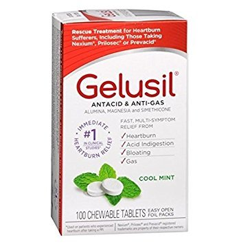 Gelusil Antacid, Anti-Gas Chewable Tablets, Mint 100 ea