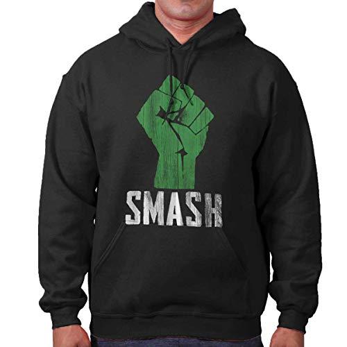 Geeky Comics Superhero Nerd Large Angry Hoodie Black -