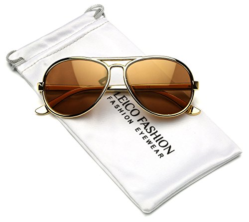 - Cool Kids Aviator UV400 Sunglasses for Babies and Toddlers age 0 to 4 (Chrome Gold, 47)