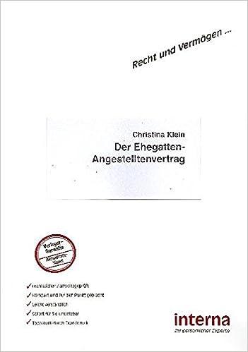 Book Der Ehegatten-Angestelltenvertrag