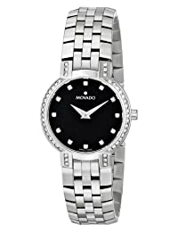 Movado Women's 605586 Faceto Diamond Accented Stainless Steel Watch