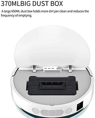 ZXL Aspirateur Robotique Protection De Capteur Intelligent À 360 ° avec Auto-Recharge, Modes De Nettoyage Multiples