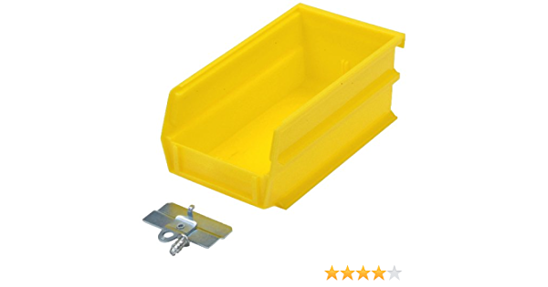 Amazon Com Triton Products Bk 220 Locbin Binkit Hanging Bin And Binclip Kits 7 3 8 Inch L By 4 1 8 Inch W By 3 Inch H Yellow Polypropylene 24 Count Home Kitchen