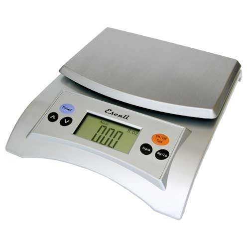 Escali Aqua (A115S) Liquid Measuring Digital Food Scale-Silver-A115