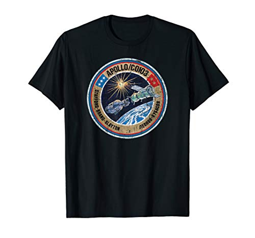 Apollo Soyuz USA USSR Space Project Insignia Distressed  T-Shirt
