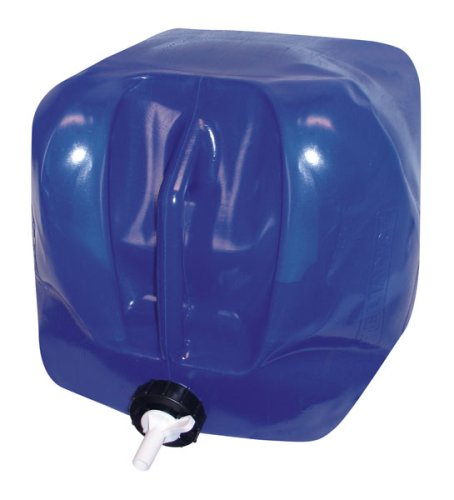 Reliance Products Five Gallon Fold-A-Carrier II Blue Collapsible Water Carrier with Integrated Handle