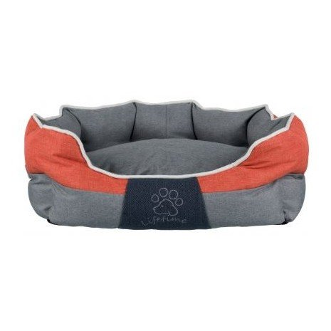 Trixie Joris Bed, 75 x 60 cm, Grey orange