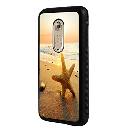 (LG K10 2018 Case,LG K30 Case,BOSLIVE Sunshine Starfish Sea Beach Background Design TPU Slim Anti-Scratch Protective Cover Case for LG K10 2018/LG K30)