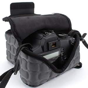 USA Gear FlexARMOR X dSLR Camera Case Holster Sleeve - Works with Nikon , Canon EOS Rebel , Sony Alpha & More DSLR Cameras (Black)