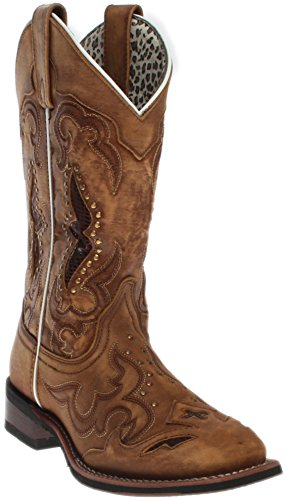 Laredo Women's Spellbound Western Boot Square Toe Tan 9 M by Laredo (Image #7)