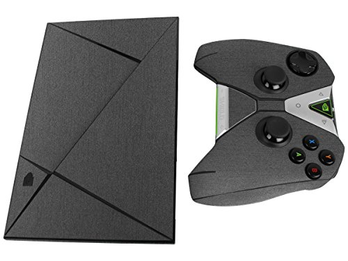 Skinomi TechSkin - NVIDIA Shield TV + Controller Brushed Steel Full Body Skin Protector / Front & Back / Premium HD Clear Film / Ultra Invisible and Anti-Bubble Shield