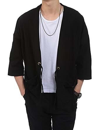 Bifast Men Lightweight Summer Long Sleeve Open Front Blazer Jacket Coat Men Men's Casual Jackets
