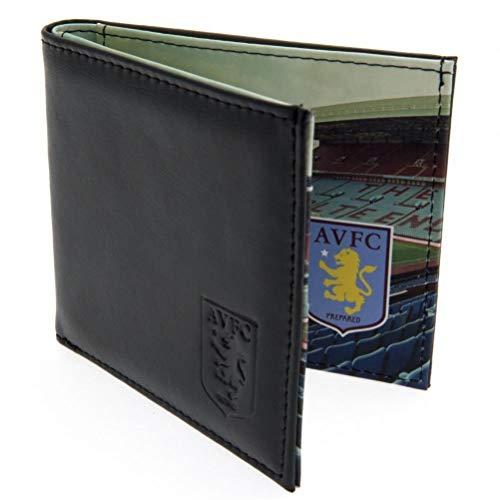 Aston Villa FC Panoramic Stadium Leather Wallet (One Size) (Brown)