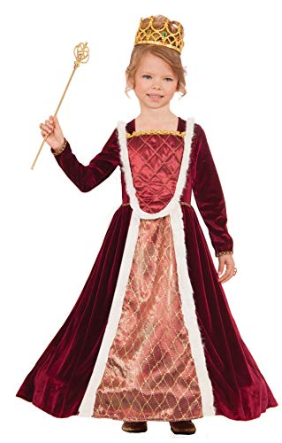 Forum Novelties 76404 Kids Deluxe Royal Medieval Queen Costume, Medium, Multicolor, Pack of 1 -
