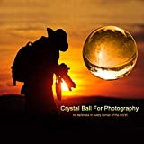 Photograph Lens Ball with Pouch, K9 Crystal Suncatchers Ball with Microfiber Pouch, Decorative and Photography Accessory (60mm with Pouch)