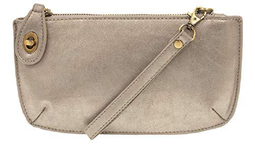 - Mini Crossbody Wristlet Clutch (Silver Lustre Lux)