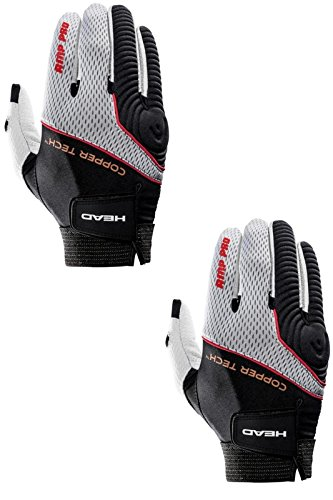 HEAD Two (2) AMP Pro Copper Tech Racquetball Glove Right Large