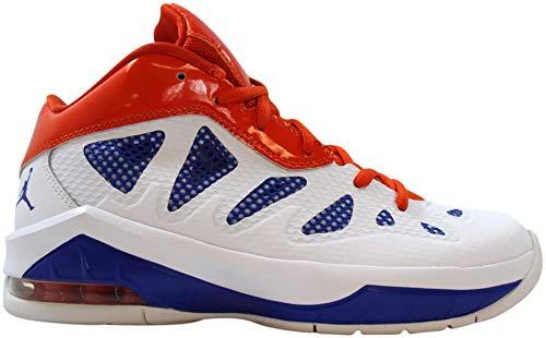Nike Grade-School Air Jordan Melo M8 Advance White/Game Royal-Team Orange Sneakers 6.5