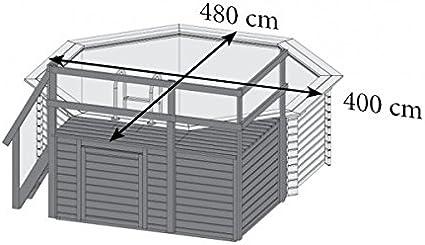 Paradies Pool GmbH Madera Pool 4, 00 x 1, 20 m/Incluye Sol Deck ...