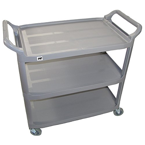 Crayata Serving And Bus Cart, Kitchen Food Service Utility Cart, 3 Tier  Heavy Duty
