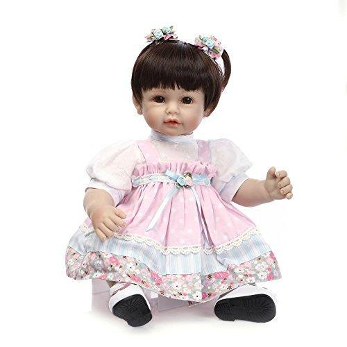 Lilith 22インチ55 cm Poseable Lifelike Reborn幼児用リアルな赤ちゃん人形ビニールとシリコン柔らかい布ボディ幼児おもちゃWeighted for Cuddle   B07B64S2BT