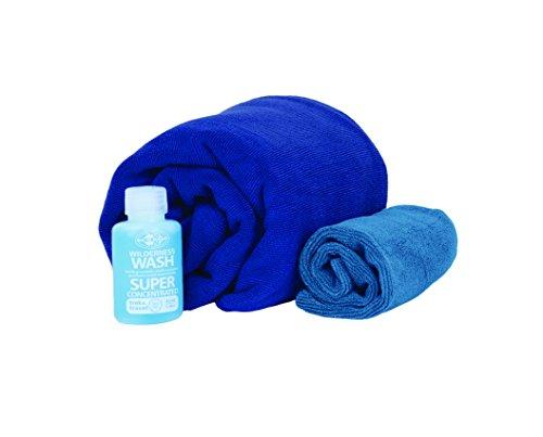 Sea to Summit Tek Towel Wash Kit, Cobalt Blue, Large