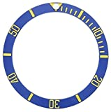 Ewatchparts NEW BEZEL INSERT CERAMIC FOR ROLEX SUBMARINER SAPPHIRE 16808, 16613 BLUE GOLD/F