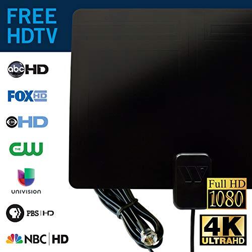 Winegard FL-1000 Digital Indoor TV HD Antenna (4K Ready/ATSC 3.0 Ready/Ultra-Thin) - 30 Mile Long Range Indoor TV Antenna