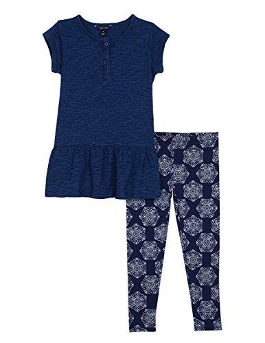 Nautica Girls Indigo Slub Jersey Top and Legging