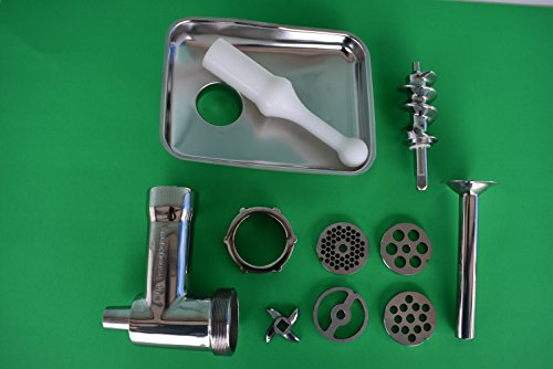 Stainless Steel meat grinder attachment for Kitchenaid mixer