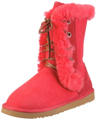 Nat-2 SHEEP Damen Fashion Stiefel Rot (Red)