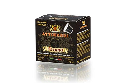 Attibassi Cápsulas de Café Italiano, Mezcla Aroma, Compatible con el Sistema Nespresso, 50 g