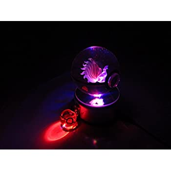 Amazon.com: Pokemon Gengar 3d Pokeball luz LED de vidrio ...