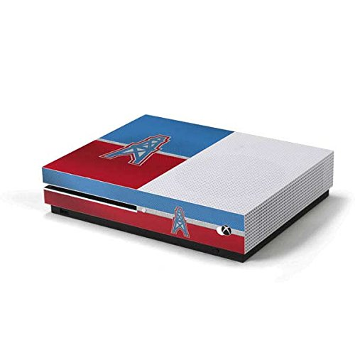 Skinit NFL Houston Texans Xbox One S Console Skin - Houston Oilers Vintage Design - Ultra Thin, Lightweight Vinyl Decal Protection