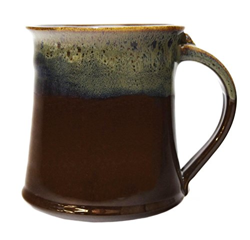 - Clay In Motion Handmade Ceramic Medium Mug 16oz - Mocha