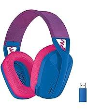 Logitech G435 LIGHTSPEED en Bluetooth draadloze gaming headset - Lichtgewicht, over-ear, ingebouwde microfoons, 18 uur batterij, compatibel met Dolby Atmos, PC, PS4, PS5, mobiel - Blauw