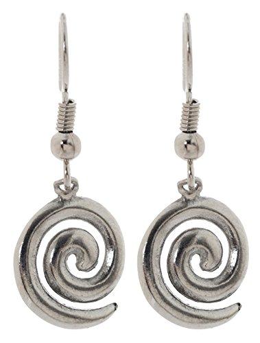 Pewter Irish Earrings Celtic Jewelry (Celtic Spiral) Celtic Spiral Earrings