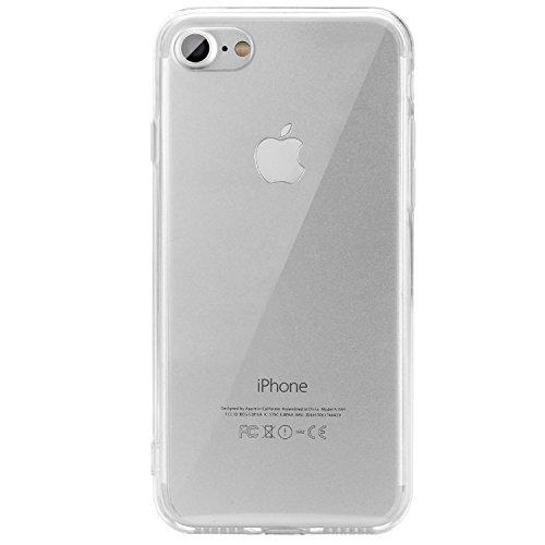 iPhone 7 Hülle, EnGive Transparent Klar Weiche TPU Ränder hartem PC Rückdeckel Schutzhülle für iPhone 7