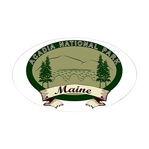CafePress - Acadia National Park Sticker (Oval) - Oval Bumper Sticker, Euro Oval Car - City Harbor National