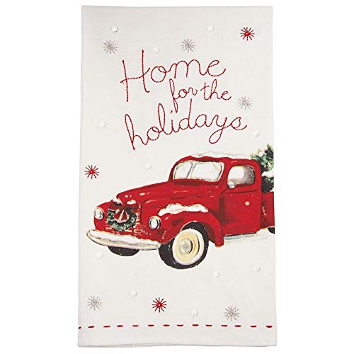 (Mud Pie Home for The Holidays Vintage Pickup Truck Christmas Tea Towel)