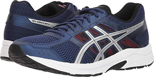 ASICS Mens Contend 4 Running Sneaker, Deep Ocean/Silver, Size 12.5