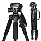 """55"""" Compact Professional DSLR Camera Tripod,Travel Portable Stand for Canon, Nikon, Sony, Samsung, Olympus, Panasonic and Mini Projector"""