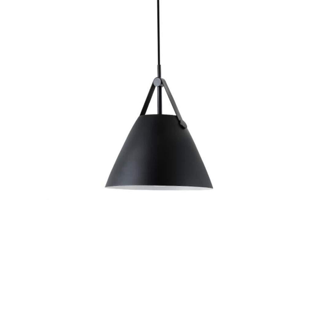 Nordic bar schwarz restaurant lampe kronleuchter moderne minimalistische Persönlichkeit kreative led schlafzimmer einzigen kopf bett lampe