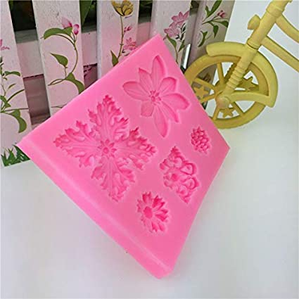 Clay Resin Wax Jelly Making Mold Gypsum Casting Mould Fondant Cupcake 5 Floral Vintage Luxury Ornament 3D Silicone Chocolate Soap Cake